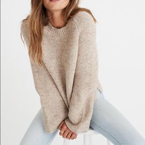 Madwell flecked wide sleeve sweater